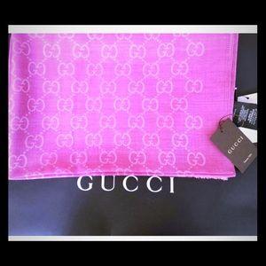 GUCCI GG Silk & Wool Wrap 💖BNWT💖